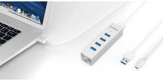 <b>Orico ASH4</b>-<b>U3</b> Aluminum <b>4 Port</b> USB3.0 Hub <b>For</b> Windows XP ...