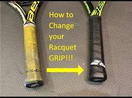 Tennis Tip: How to Install a <b>Replacement Grip</b> - YouTube