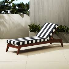 filaki lounger with black and white stripe cushion black and white outdoor furniture