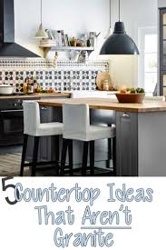 countertops popular options today: i love granite just as much as the next person but i feel like it has trapped people into thinking it is the only option for a countertop