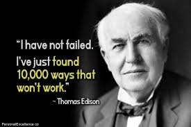 Tomas Edison: creative failure