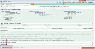 job posting interface