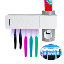 <b>Automatic</b> UV Toothbrush Sanitizer with 5 Toothbrush Holder, <b>Wall</b> ...