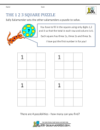 finding all possibilities problem solving 1st grade math problems 1 2 3 puzzle