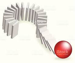 the risk of domino effect stock vector art istock the risk of domino effect royalty stock vector art