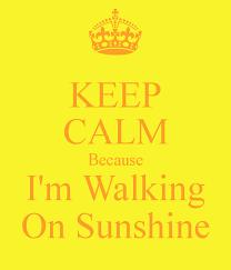 Bildresultat för walking on sunshine