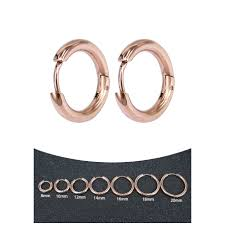 Fashion <b>Unisex</b> Circle Earrings Korean Style <b>Stainless</b> Steel <b>Small</b> ...