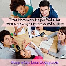 Constantly updated collection of homework help websites