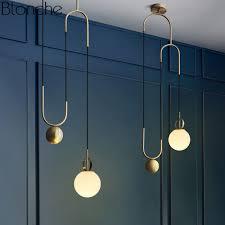 Modern <b>Nordic Glass Pendant Lights</b> Lamp Industrial Ball Hanglamp ...