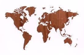 Украшение на стену <b>Mimi Карта</b> из натурального дерева Wall ...