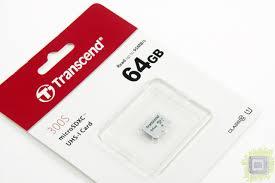 Обзор <b>карты памяти Transcend</b> TS64GUSD300S (64 ГБ, microSD ...