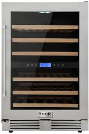 24 inch Thor 46 Bottles Wide Built-In Dual Zone ... - Amazon.com