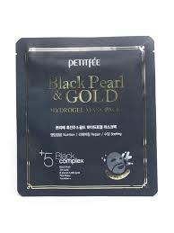 <b>Маска</b> для лица <b>гидрогелевая с черным</b> жемчугом и золотом, 32г ...