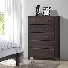 grain wood furniture shaker 5 drawer espresso finish solid wood chest brown solid wood furniture
