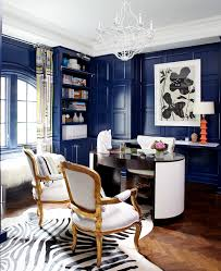 zebra print rug home office eclectic with antique blue curtains desk blue brown home office