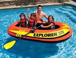 Надувная <b>лодка Intex Explorer</b>-<b>300</b> (Set), с веслами и насосом ...