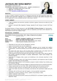 jsm document controller cv
