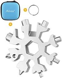 Aitsite 18-in-1 <b>Snowflake</b> Multi Tool Stainless <b>Portable</b> Steel Multi ...