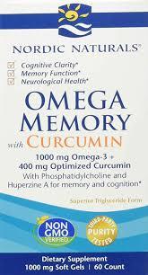 Buy Nordic Naturals, <b>Omega Memory with Curcumin</b>, 1000 mg, 60 ...