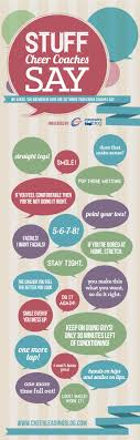 stuff cheer coaches say infograph omni cheer blog cheerleading infograph