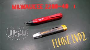 Обзор индикаторов <b>напряжения</b> Milwaukee 2200-40 vs <b>Fluke LVD2</b>