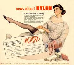 「1940, dupont first put on sale the nylon stockings」の画像検索結果