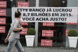 Resultado de imagem para bancários em greve