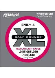 <b>ENR71</b>-5 Half Rounds <b>струны</b> для 5-струнной бас-<b>гитары</b> Regular ...