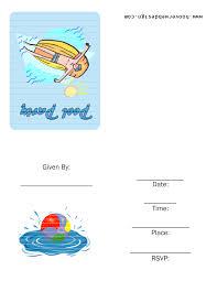 swimming party invitations template best template collection swimming party invitations template iamfidp9