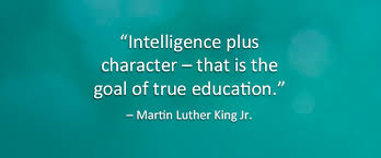 Image result for intelligence plus character is the goal of true education