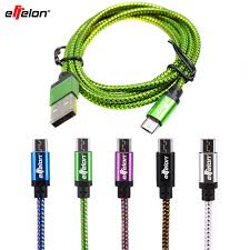 Effelon 20cm/<b>1M</b>/<b>2M</b> Micro <b>USB</b> Cable Charger <b>Data</b> Sync Nylon ...