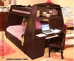 full bunk bed with desk bunk bed desk trundle