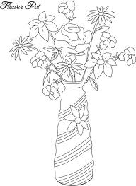 Small Picture Empty Flower Pot Coloring Pages Coloring Pages