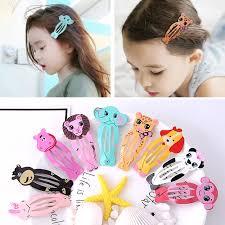 <b>6Pcs</b> Baby Girls <b>Cartoon Animals</b> Hair Clip bangs side Hairpin ...