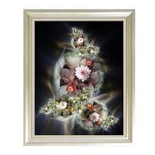 <b>5D</b> diamond painting <b>full square Drill</b> Flower Round embroidery ...