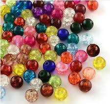 <b>Crackle Glass</b> Jewellery Making Craft Beads | eBay
