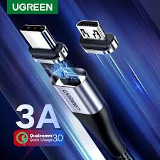 <b>Ugreen Magnetic</b> Micro USB <b>Cable</b> Head 2.4A Quick <b>Charger</b> for ...