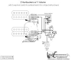 humbucker volume tone wiring diagrams guitar wiring diagram 2 humbucker 1 volume guitar push pull volume pot wiring push auto wiring