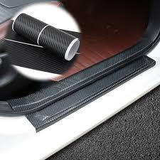 Car Sticker Door Sill Protector <b>Car Styling Carbon Fiber</b> Door Plate ...