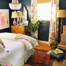 black bedroom ecclectic