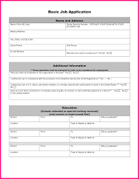 basic job application form template success basic job application form printable basic job application form