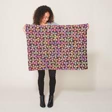 <b>Gothic Skull</b> Pop Art Pink Green <b>Pattern</b> Design Fleece Blanket ...