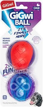 Купить <b>Игрушка</b> для собак <b>GiGwi</b> G-<b>Ball</b> Мяч с пищалкой 2шт с ...