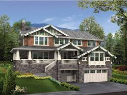 Eplans Craftsman House Plan   Craftsman for a Sloped Lot      Eplans Craftsman House Plan   Craftsman for a Sloped Lot   Square Feet and Bedrooms from Eplans   House Plan Code HWEPL