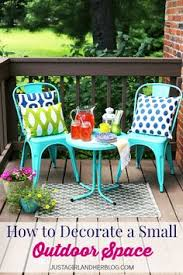 this would be perfect for our small deck love the bright colors justagirlandherblog bright ideas deck