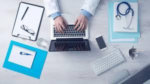 computer business typing keyboard laptop doctor business computer
