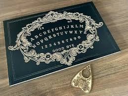 Large Black <b>Victorian</b> Design <b>Ouija</b> Board Carved in Wood with ...