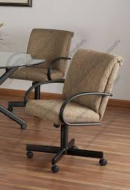 casual dining chairs with casters: tempo industries durango swivel amp tilt dining arm chair with casters