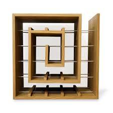 Oak <b>wine rack</b> to hold <b>25</b> bottles. — Liv Cornall Design