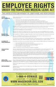 Family and Medical Leave Act (FMLA) <b>Poster</b> | U.S. Department of ...